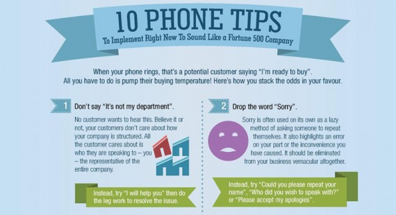10 Phone tips to sound like a Fortune 500 company – Infographic